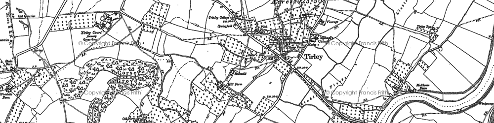 Old map of Tirley in 1883