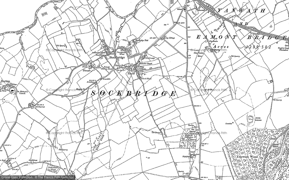 Old Map of Tirril, 1913 in 1913