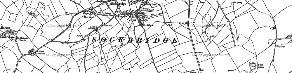 Old map of Tirril in 1913