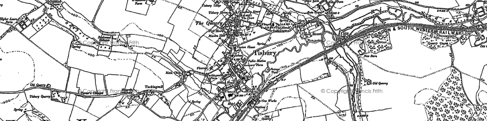 Old map of Tisbury in 1900