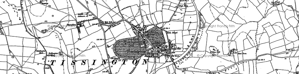 Old map of Tissington in 1879