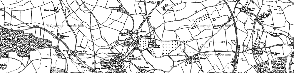Old map of Titley in 1885