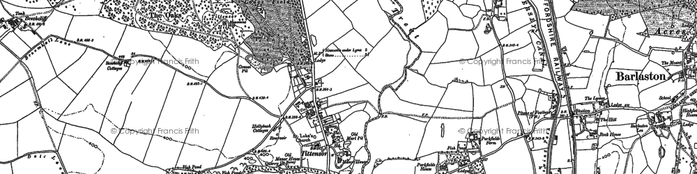 Old map of Tittensor in 1879