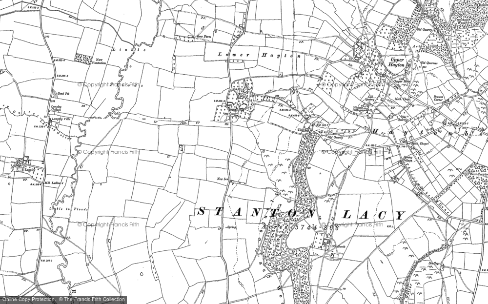 Old Map of Titterhill, 1883 in 1883
