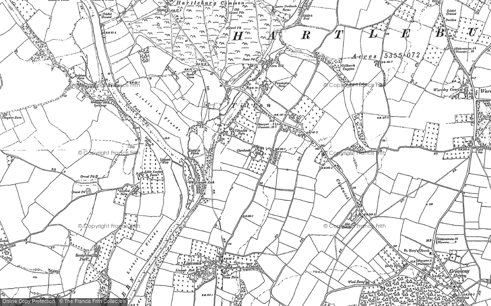 Old Map of Titton, 1883 in 1883