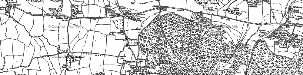 Old map of Tivington in 1902