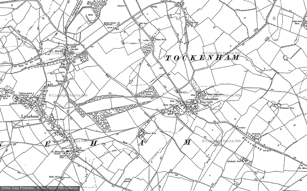 Old Map of Tockenham, 1899 in 1899