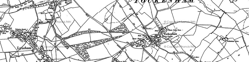 Old map of Tockenham in 1899