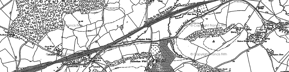 Old map of Tockenham Wick in 1899