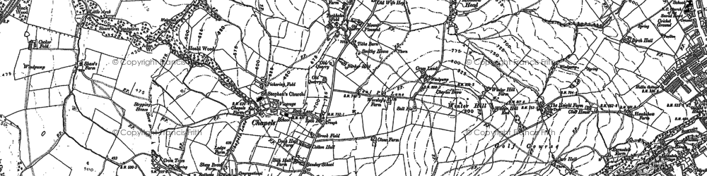 Old map of Tockholes in 1891