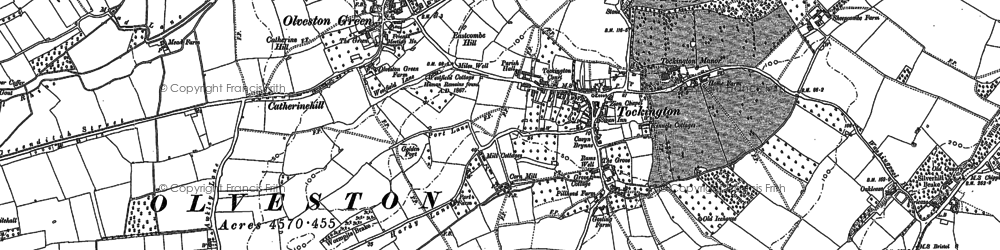 Old map of Awkley in 1880