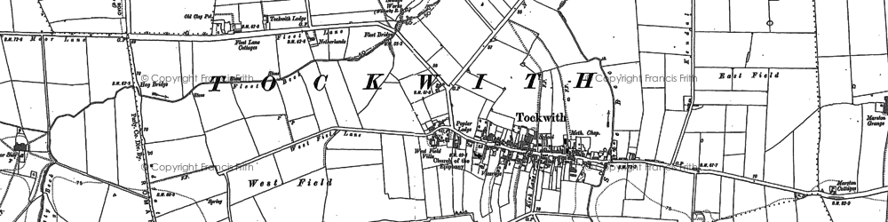 Old map of Wilstrop Wood in 1892