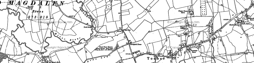 Old map of Todber in 1901