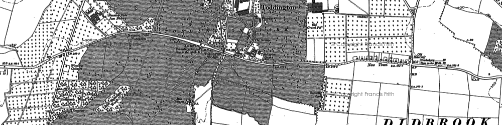 Old map of Toddington in 1883