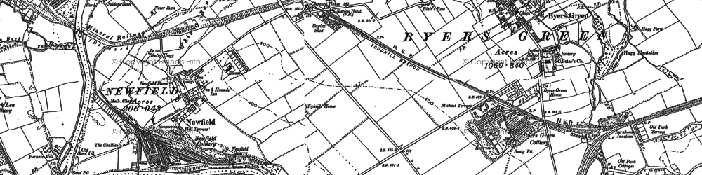 Old map of Todhills in 1896