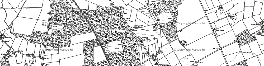 Old map of Todhills in 1899