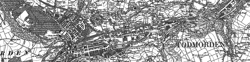 Old map of Todmorden in 1905