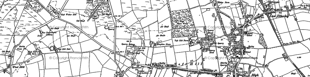 Old map of West Witton Row in 1896