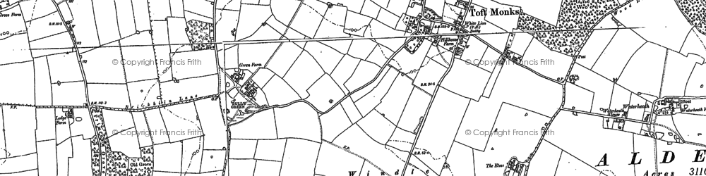 Old map of Windle Hills in 1884
