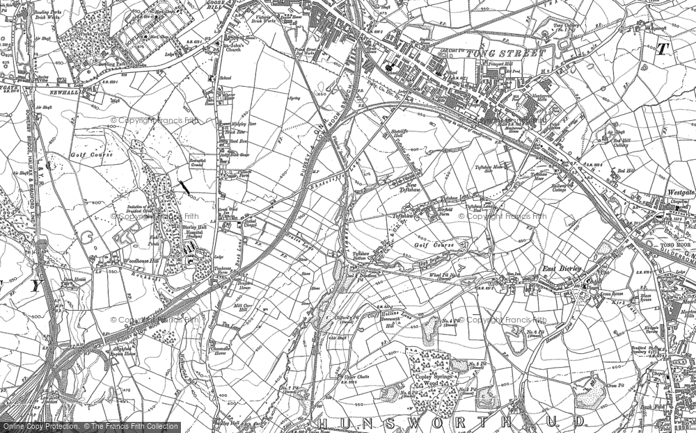 Old Map of Toftshaw, 1882 - 1892 in 1882