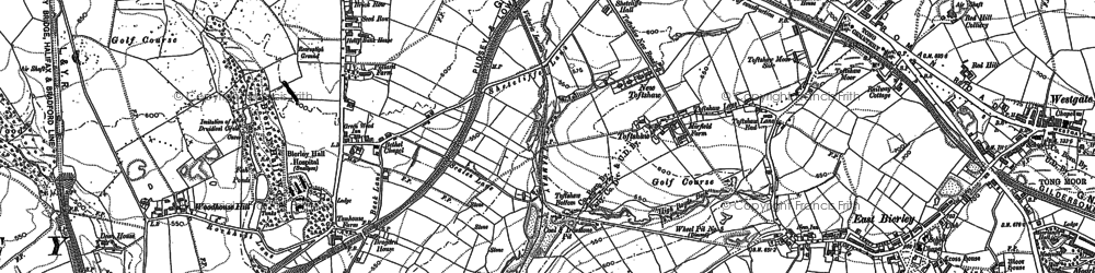 Old map of Toftshaw in 1882