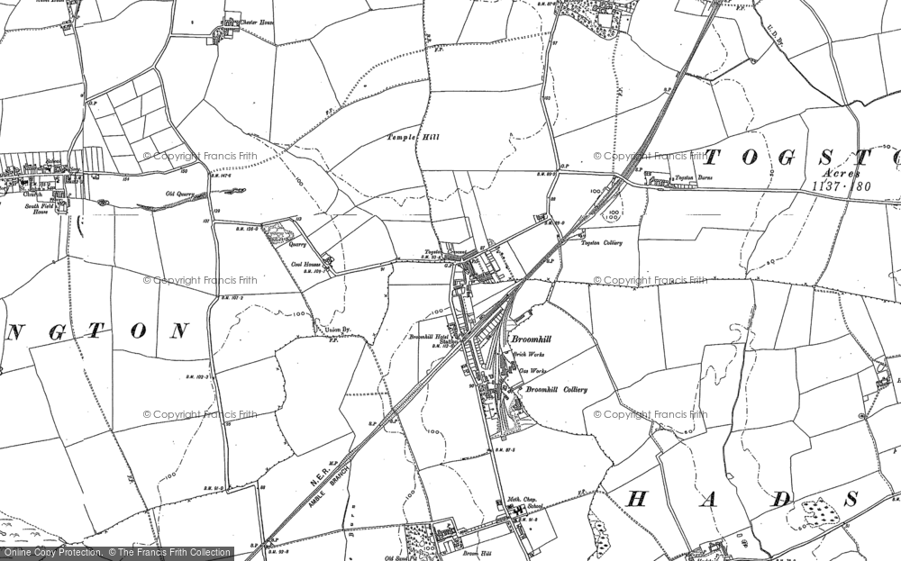 Old Map of Togston, 1896 in 1896