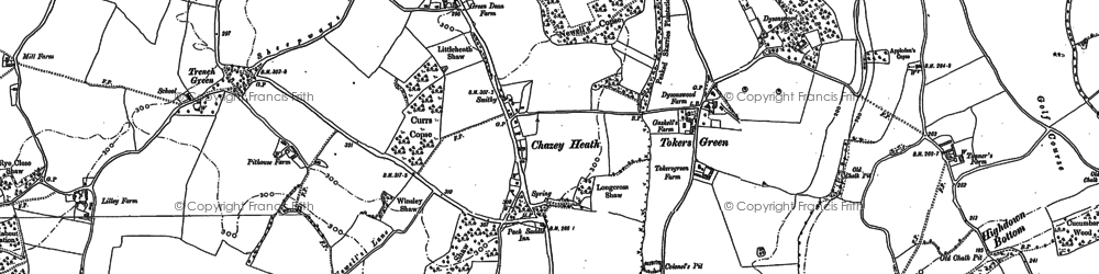 Old map of Tokers Green in 1910