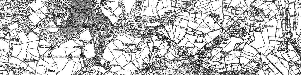 Old map of Tolgullow in 1879
