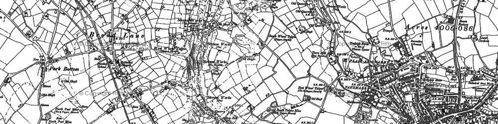 Old map of Tolgus Mount in 1878