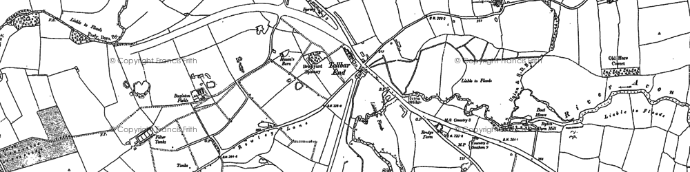 Old map of Tollbar End in 1886