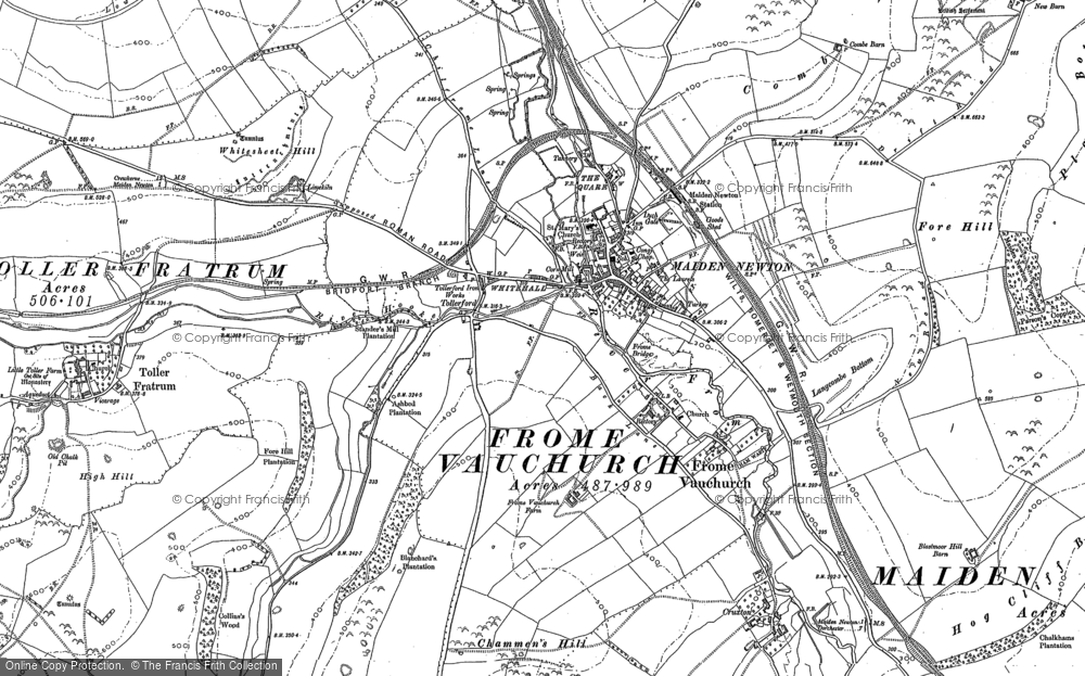 Old Map of Tollerford, 1887 in 1887