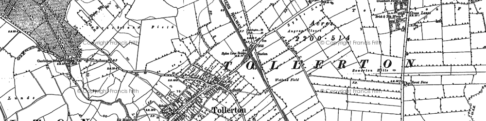 Old map of York Br in 1891