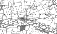 Old Map of Tolpuddle, 1885