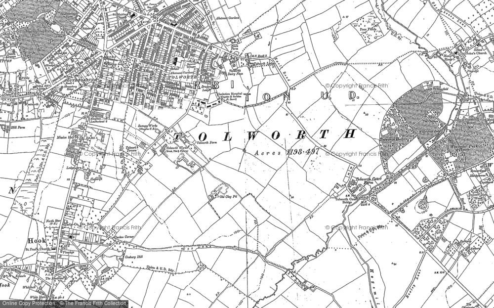 Map of Tolworth, 1894 - 1895