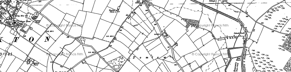 Old map of Tomlow in 1885
