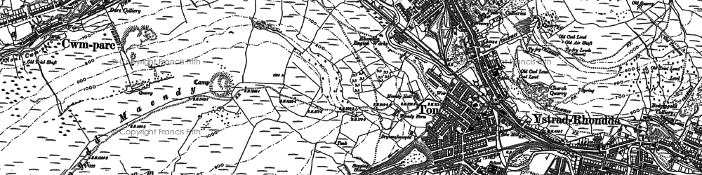 Old map of Ton Pentre in 1898