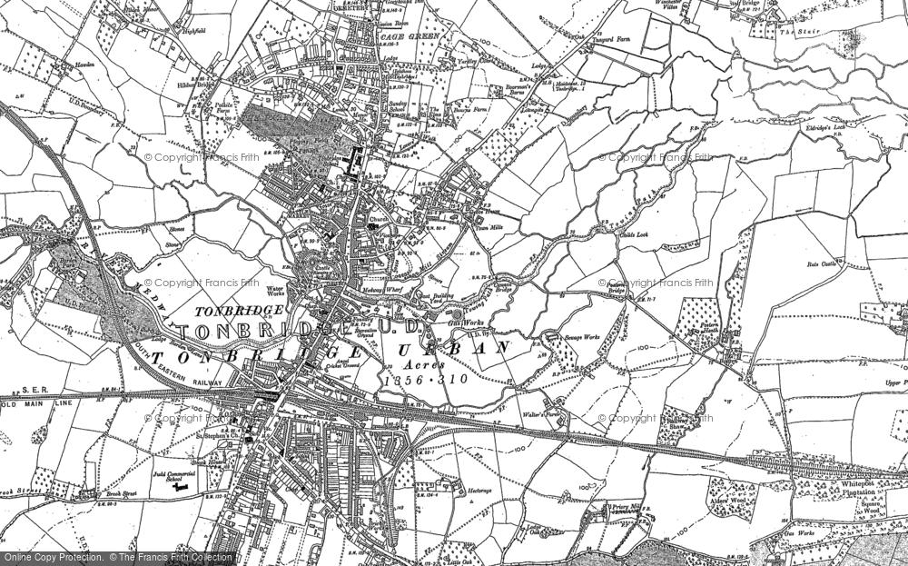 Map of Tonbridge, 1895