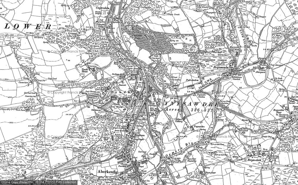 Old Map of Tondu, 1897 in 1897