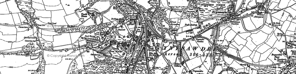 Old map of Tondu in 1897