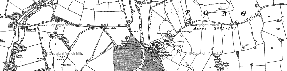 Old map of Tong in 1881