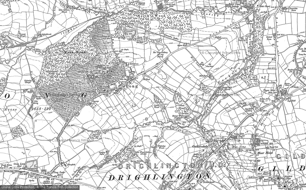 Old Map of Tong, 1892 in 1892