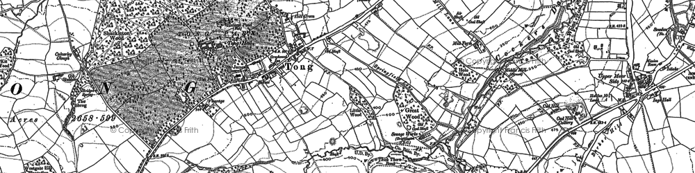Old map of Leeds Country Way in 1892
