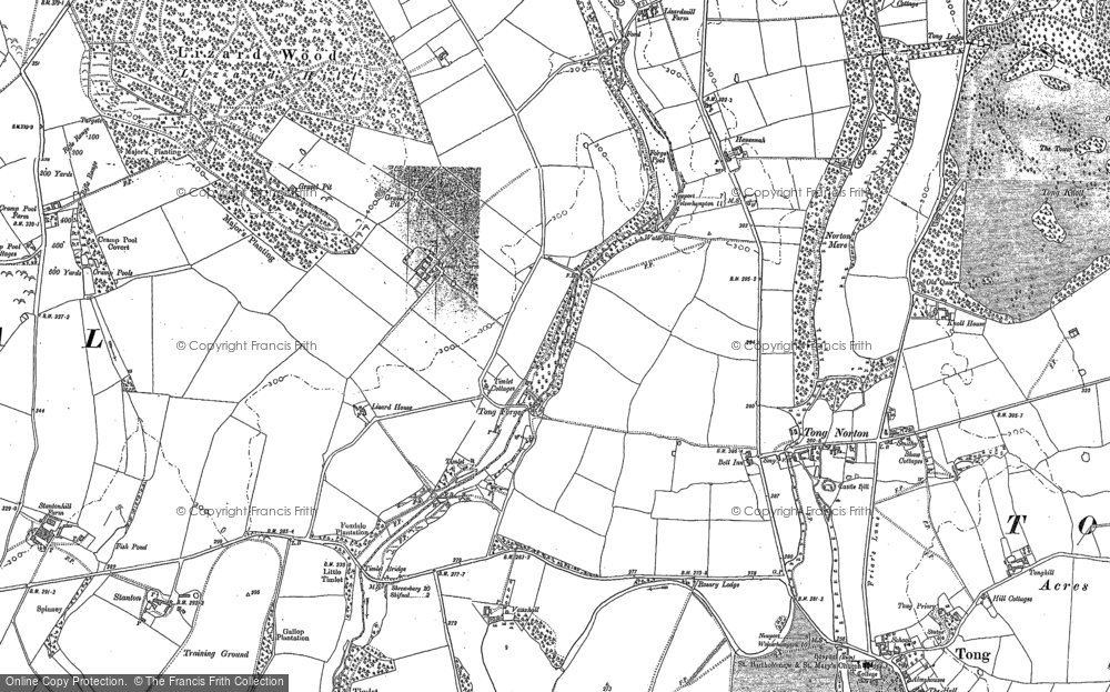 Old Map of Tong Forge, 1881 in 1881