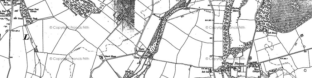 Old map of Tong Forge in 1881