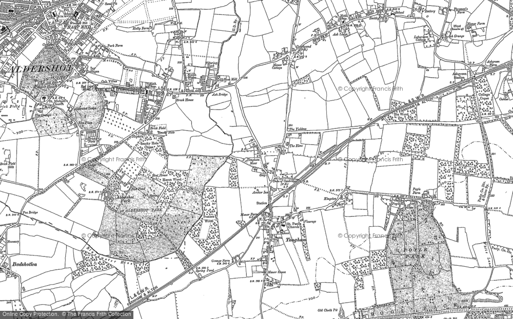 Old Map of Tongham, 1913 in 1913