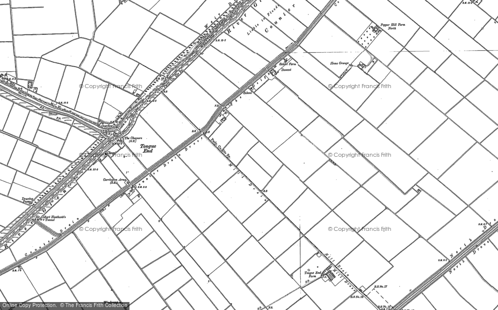 Old Map of Tongue End, 1886 - 1887 in 1886