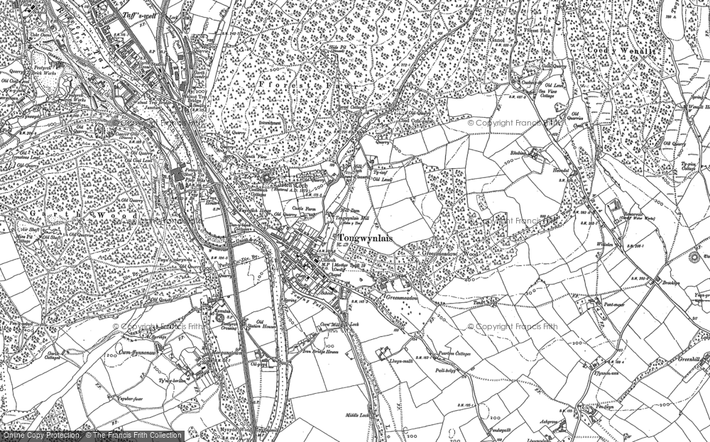 Old Map of Tongwynlais, 1897 - 1915 in 1897