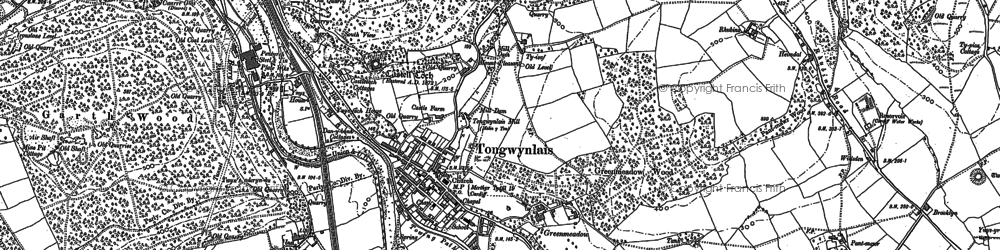 Old map of Tongwynlais in 1897