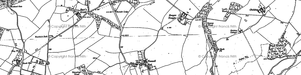 Old map of Tonwell in 1897