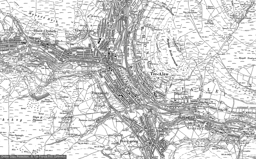 Old Map of Tonypandy, 1898 in 1898